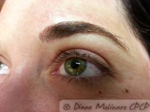 Hair stroke brows Immediately After