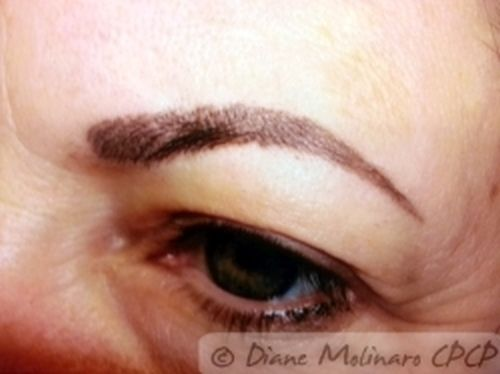 hairstroke brows Healed left