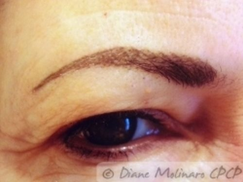 hairstroke brows Healed right