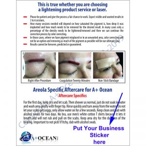 tattoo removal aftercare cards