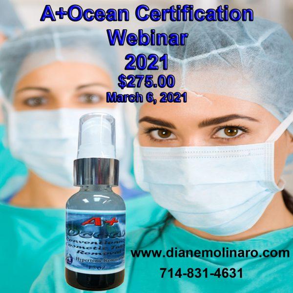 A+Ocean Certification Webinar March 6 2021